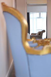 Rococo thrones at Havant photography studio