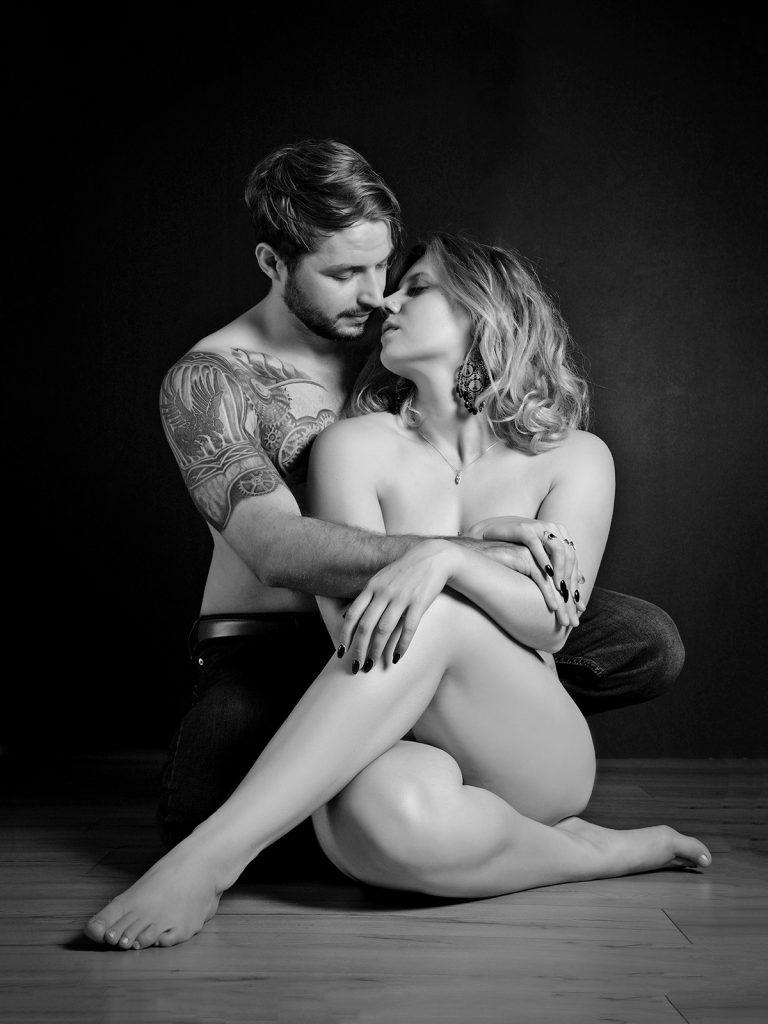 Romantic couples boudoir photoshoot
