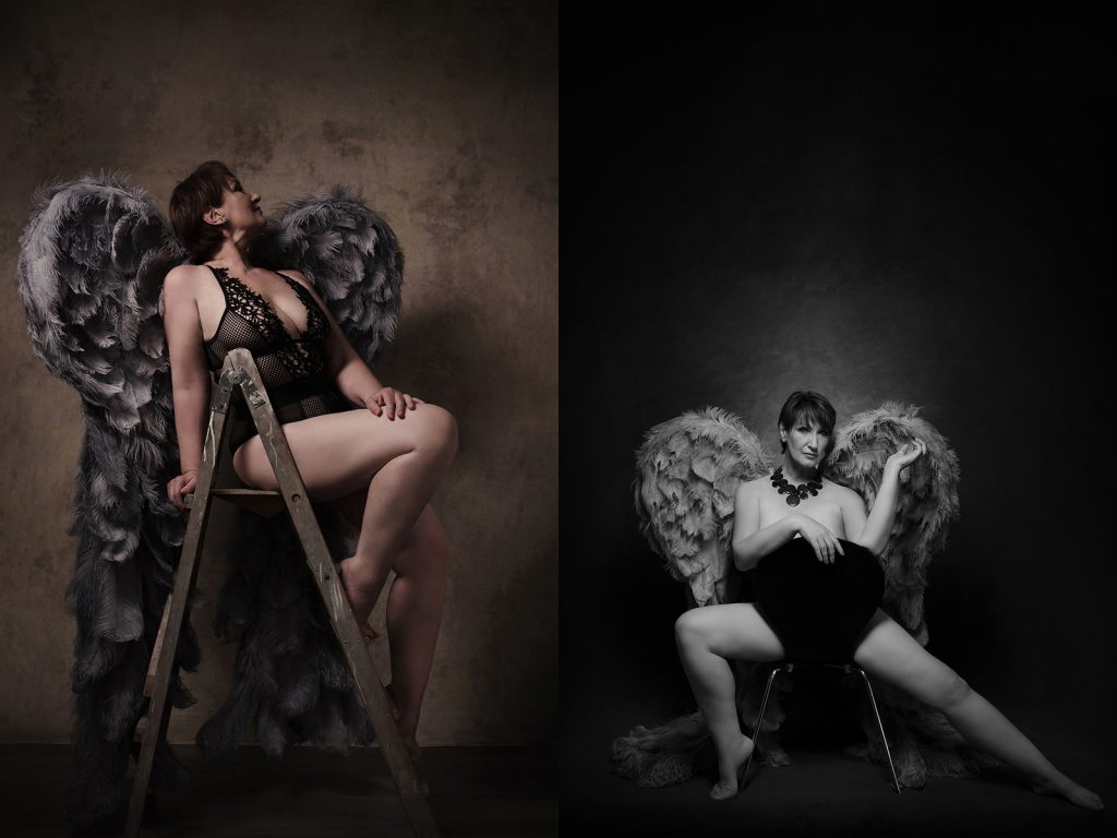 Angel wings portrait photography