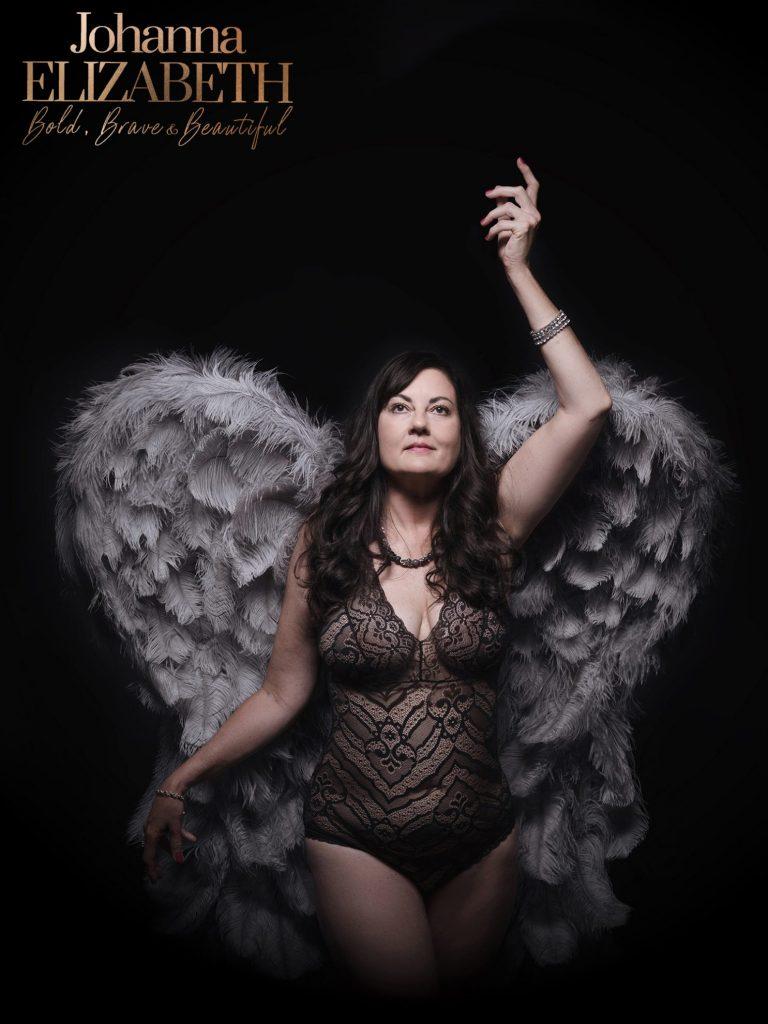 Angel wings portrait photography by Johanna Elizabeth