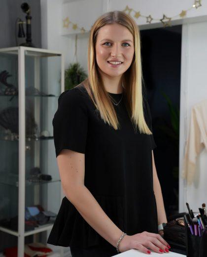 Evie, hair and makeup stylist at Johanna Elizabeth