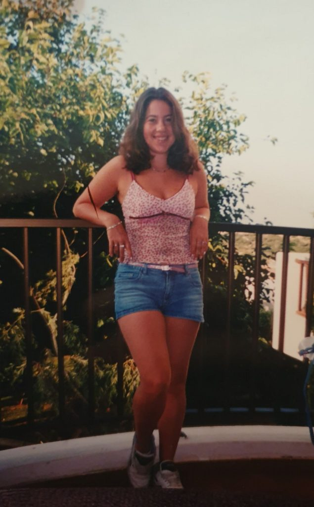 Ange at 18 years old