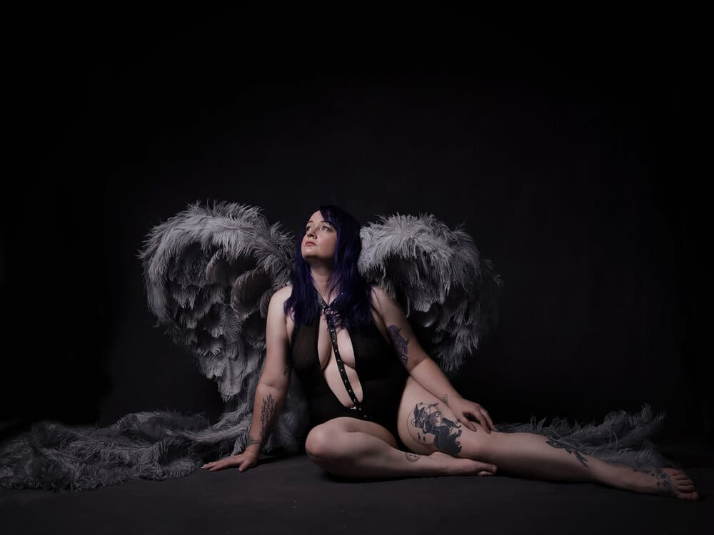 Note to Self Series portrait with angel wings